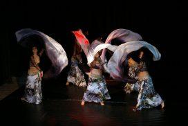 школа по ориенталски танци, ориенталски танц воали